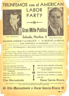 Triunfamos con el American Labor Party / We triumph with the American Labor Party