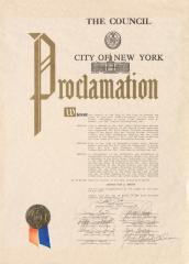 Award to Olga Méndez by the City of New York