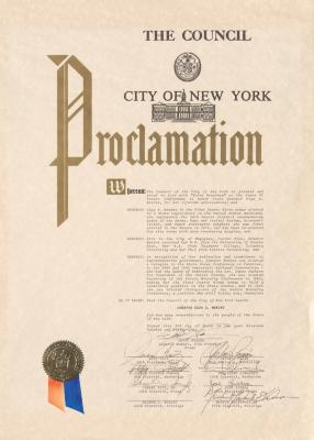 Award to Olga Méndez by the City of New York