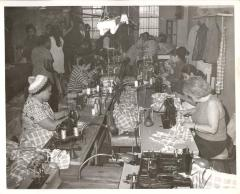 Garment workers sewing