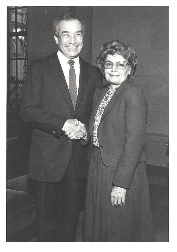 Herman Badillo and Olga Méndez