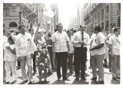 Olga Méndez and Herman Badillo at the Puerto Rican Day Parade