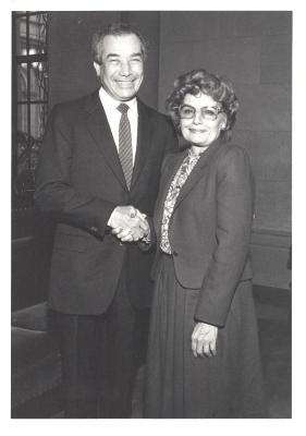 Herman Badillo and Olga Méndez