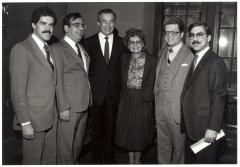 Jose E. Serrano, Angelo Del Toro, Herman Badillo and Olga Méndez