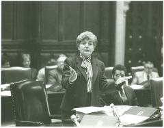 Olga Méndez in New York State Chamber debate in session