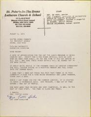 Letter from Tottie Hicks