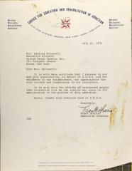 Letter from Frank Garcia