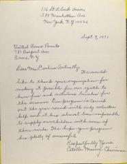 Letter from Estelle Massey