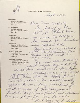 Letter from Dorothy L. Smith