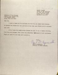 Letter from Paul D. Aquavella