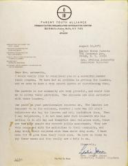 Letter from Leslie James
