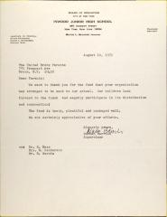 Letter from Norman Barrish