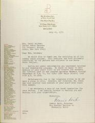 Letter from Connie Reid