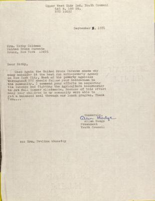 Letter from Allen Hodge