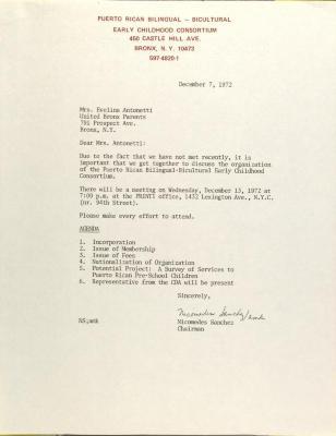 Letter from Nicomedes Sanchez