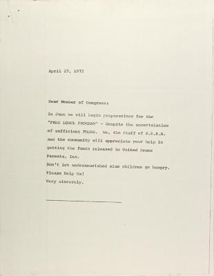 Letter to a Congressman