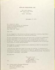 Letter to Robert K. Davis from Michele S. Garden