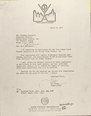 Letter from Ted Gross