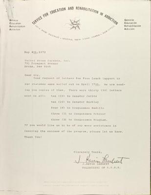 Letter from J. Kevin Lambert