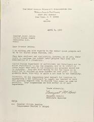 Letter to Jacob Javits from Margaret McNeill
