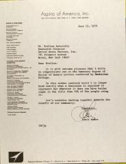 Letter from Louis Nunez