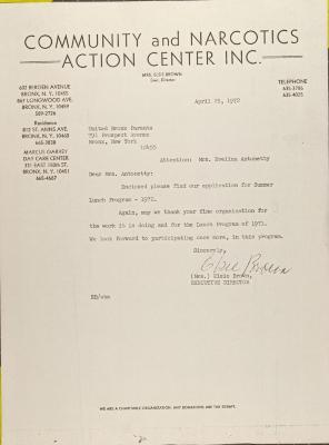 Letter from Else Brown