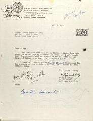 Letter from Harold Henry