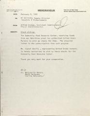 Memorandum from Al Wolinski to Alfred Arango