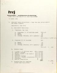 H.M.J. Associates Budget
