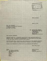 Letter to John Zuccotti from Teresa Morales