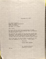 Letter to Ralph Casanova