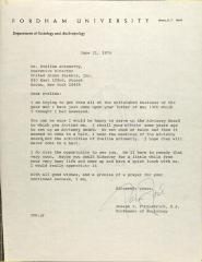 Letter from Joseph P. Fitzpatrick