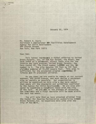 Letter to Robert K. Davis