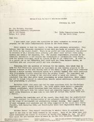 Letter to Joe Serrano from Ellen Lurie