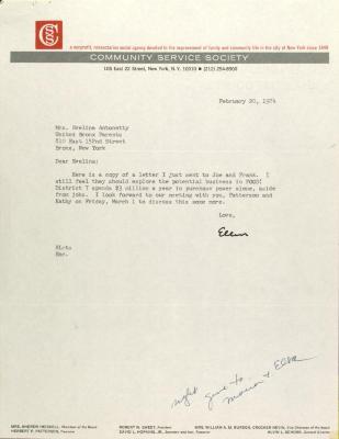 Letter from Ellen Lurie