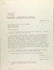 Letter from Harley M. Jones