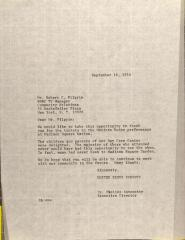 Letter to Robert C. Pilgrim