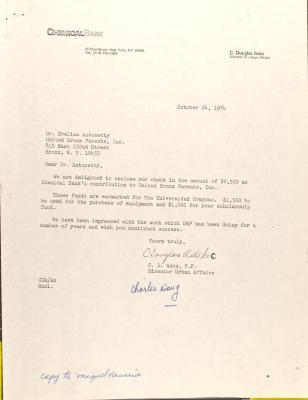 Letter from Charles Ades