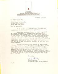 Letter from Douglas Rimsky