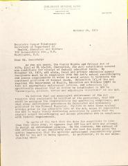 Letter to Caspar Weinberger from the Children's Defense Fund