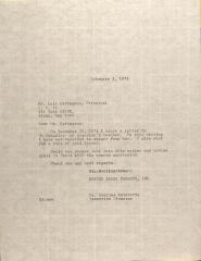 Letter to Luis Cartagena