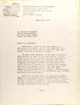 Letter from Olga Mendez