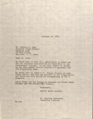 Letter to Charles D. Ades