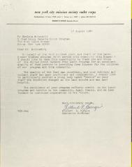 Letter from Wilbert E. Burgie