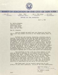 Letter from Carmen E. Rivera