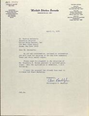 Letter from Christopher F. Randolph