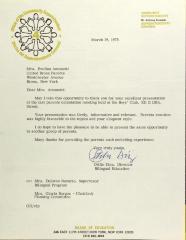 Letter from Otilio Diaz