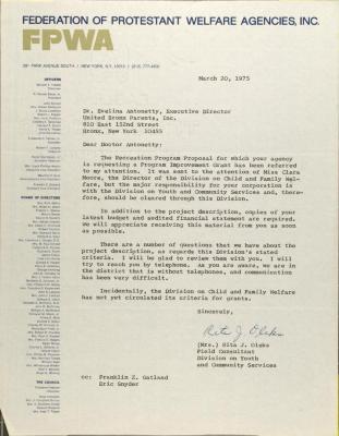 Letter from Rita J. Oleks