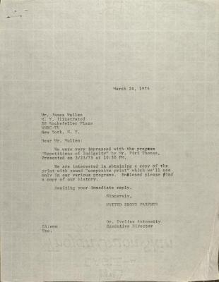 Letter to James Mullen