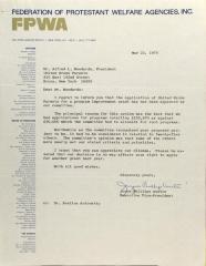 Letter from Joyce Phillips Austin